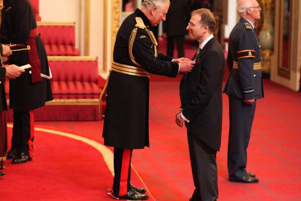 Dr. Richard Wilson from Welwyn Garden City is made an OBE (Officer of the Order of the British Empire) by the Prince of Wales at Buckingham Palace. This picture is not for use after 6 August, 2018. PRESS ASSOCIATION Photo. Picture date: Wednesday June 6, 2018. See PA story ROYAL Investiture. Photo credit should read: Jonathan Brady/PA Wire