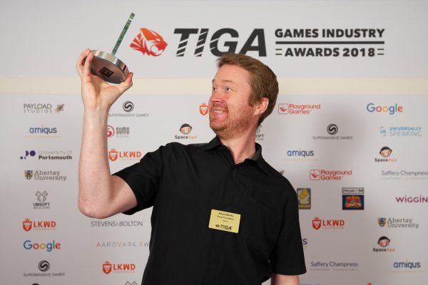 TIGA Games Industry Awards at the Guildhall London.Best Audio design - Polyphonic Digital INCNovember 1 2018Matthew Power Photographywww.matthewpowerphotography.co.uk07969 088655mpowerphoto@yahoo.co.uk@mpowerphoto