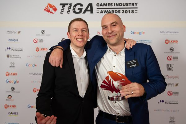 TIGA Games Industry Awards at the Guildhall London.Best  - Social Game - Supermassive GamesNovember 1 2018Matthew Power Photographywww.matthewpowerphotography.co.uk07969 088655mpowerphoto@yahoo.co.uk@mpowerphoto