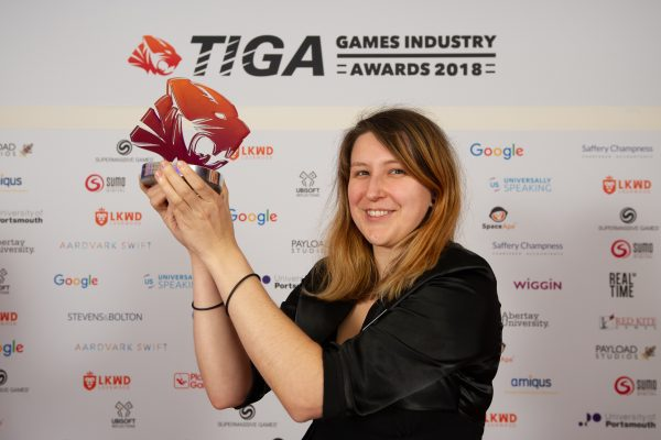 TIGA Games Industry Awards at the Guildhall London.Best Educational Game - CharlesUniversity and CzechAcademy of Sciences.November 1 2018Matthew Power Photographywww.matthewpowerphotography.co.uk07969 088655mpowerphoto@yahoo.co.uk@mpowerphoto