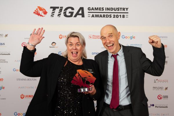TIGA Games Industry Awards at the Guildhall London.Diversity Award - TestronicNovember 1 2018Matthew Power Photographywww.matthewpowerphotography.co.uk07969 088655mpowerphoto@yahoo.co.uk@mpowerphoto