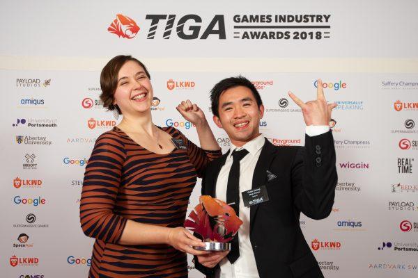 TIGA Games Industry Awards at the Guildhall London.Creativity Award - Ninja TheoryNovember 1 2018Matthew Power Photographywww.matthewpowerphotography.co.uk07969 088655mpowerphoto@yahoo.co.uk@mpowerphoto