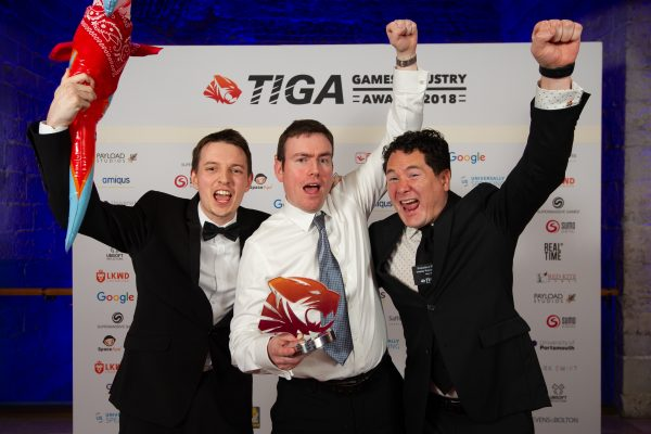 TIGA Games Industry Awards at the Guildhall London.Best Puzzle Game - OutplayEntertainmentNovember 1 2018Matthew Power Photographywww.matthewpowerphotography.co.uk07969 088655mpowerphoto@yahoo.co.uk@mpowerphoto