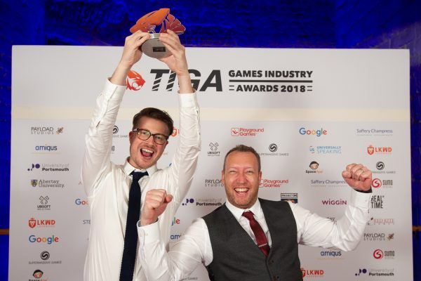 TIGA Games Industry Awards at the Guildhall London.  Best Visual Design - Rare  November 1 2018   Matthew Power Photography www.matthewpowerphotography.co.uk 07969 088655 mpowerphoto@yahoo.co.uk @mpowerphoto