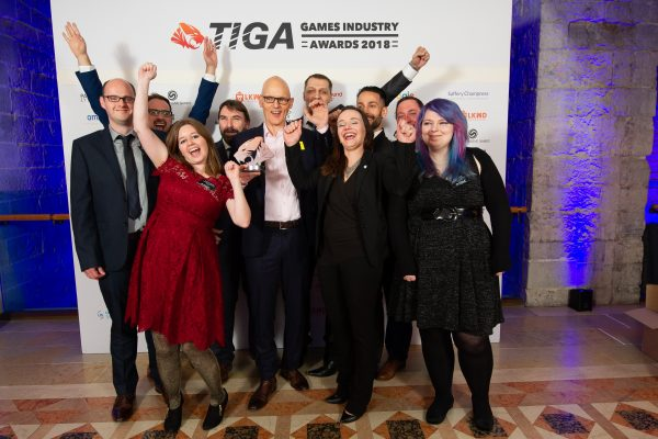 TIGA Games Industry Awards at the Guildhall London.  Best Large Independent Studio - Lockwood Publishing  November 1 2018   Matthew Power Photography www.matthewpowerphotography.co.uk 07969 088655 mpowerphoto@yahoo.co.uk @mpowerphoto