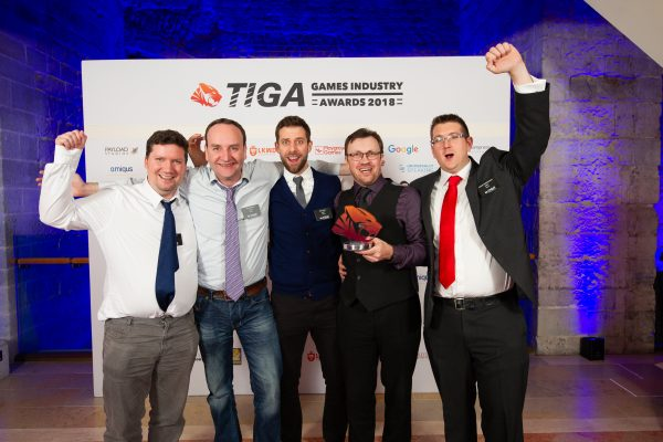 TIGA Games Industry Awards at the Guildhall London.  Best Roleplay Game - Jagex  November 1 2018   Matthew Power Photography www.matthewpowerphotography.co.uk 07969 088655 mpowerphoto@yahoo.co.uk @mpowerphoto