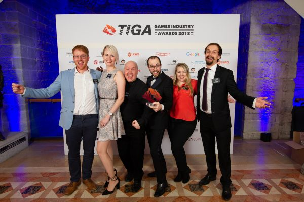 TIGA Games Industry Awards at the Guildhall London.  Best Strategy Game - Creative Assembly  November 1 2018   Matthew Power Photography www.matthewpowerphotography.co.uk 07969 088655 mpowerphoto@yahoo.co.uk @mpowerphoto