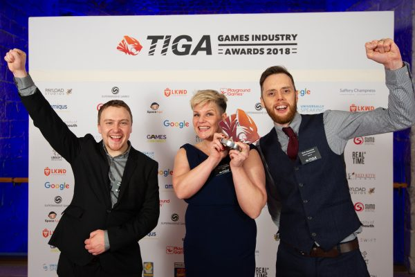 TIGA Games Industry Awards at the Guildhall London.  Best Educational Initiative and Talent Development - Ubisoft Reflections  November 1 2018   Matthew Power Photography www.matthewpowerphotography.co.uk 07969 088655 mpowerphoto@yahoo.co.uk @mpowerphoto