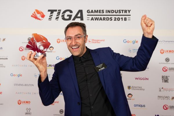 TIGA Games Industry Awards at the Guildhall London.  Best Services Provider - Realtime UK  November 1 2018   Matthew Power Photography www.matthewpowerphotography.co.uk 07969 088655 mpowerphoto@yahoo.co.uk @mpowerphoto