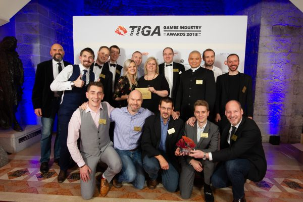 TIGA Games Industry Awards at the Guildhall London.  Best Engines Middleware Tools and Technology - Playfusion  November 1 2018   Matthew Power Photography www.matthewpowerphotography.co.uk 07969 088655 mpowerphoto@yahoo.co.uk @mpowerphoto