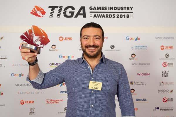 TIGA Games Industry Awards at the Guildhall London.  Best Start Up - Virtual Arts  November 1 2018   Matthew Power Photography www.matthewpowerphotography.co.uk 07969 088655 mpowerphoto@yahoo.co.uk @mpowerphoto