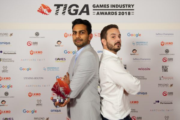 TIGA Games Industry Awards at the Guildhall London.  Best Technical Innovation - Space Ape Games  November 1 2018   Matthew Power Photography www.matthewpowerphotography.co.uk 07969 088655 mpowerphoto@yahoo.co.uk @mpowerphoto