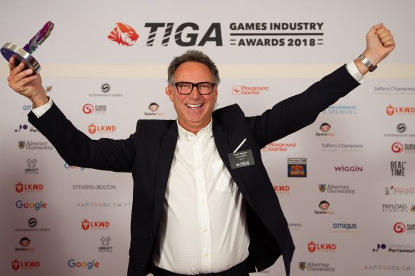 TIGA Games Industry Awards at the Guildhall London.  Best Outstanding Leadership - Frank Sagnier Codemasters  November 1 2018   Matthew Power Photography www.matthewpowerphotography.co.uk 07969 088655 mpowerphoto@yahoo.co.uk @mpowerphoto