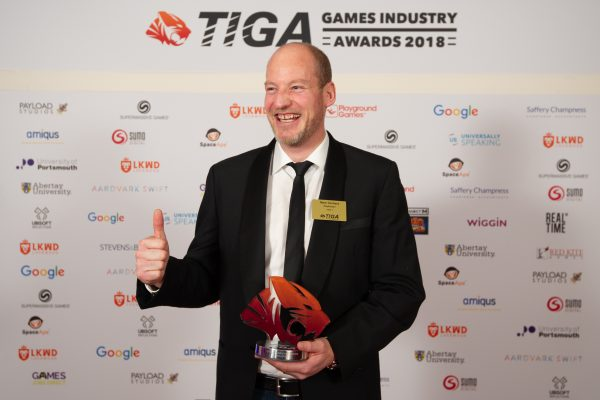 TIGA Games Industry Awards at the Guildhall London.  Outstanding Individual - Mark Gerhard  November 1 2018   Matthew Power Photography www.matthewpowerphotography.co.uk 07969 088655 mpowerphoto@yahoo.co.uk @mpowerphoto