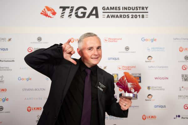 TIGA Games Industry Awards at the Guildhall London.  Best Small Independent Studio - Red Kite Games.  November 1 2018   Matthew Power Photography www.matthewpowerphotography.co.uk 07969 088655 mpowerphoto@yahoo.co.uk @mpowerphoto